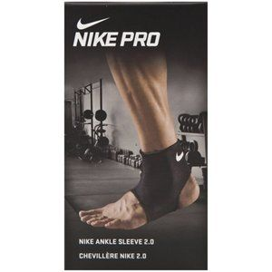 Nike Pro Ankle Sleeve 2.0 Black/White Adult Sz S,M
